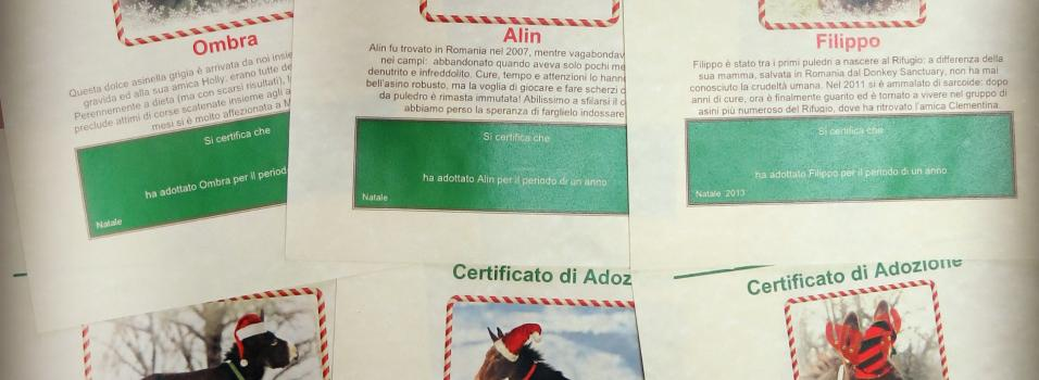 Christmas adoption certificates