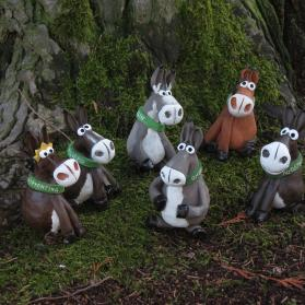 Terracotta statuettes of the Adoption Donkeys will help to raise funds